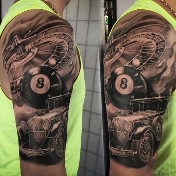 Zhuo-Dan-Ting-Tattoo-work-卓丹婷纹身作品-机车纹身