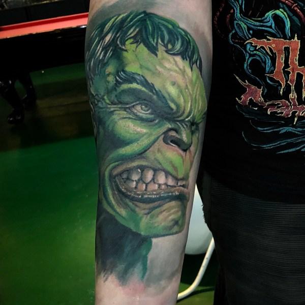 Zhuo-Dan-Ting-Tattoo-work-卓丹婷纹身作品-绿巨人纹身