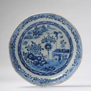 Antique Yongzheng or Qianlong Chinese Porcelain Plate China Blue
