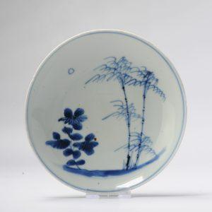Antique Chinese Porcelain 17th C Kosometsuke Moonlight Landscape Late Ming Tianqi