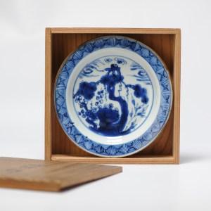 Antique Chinese 17th c Tianqi Chongzhen Plate Dish Porcelain Three Friends of winter