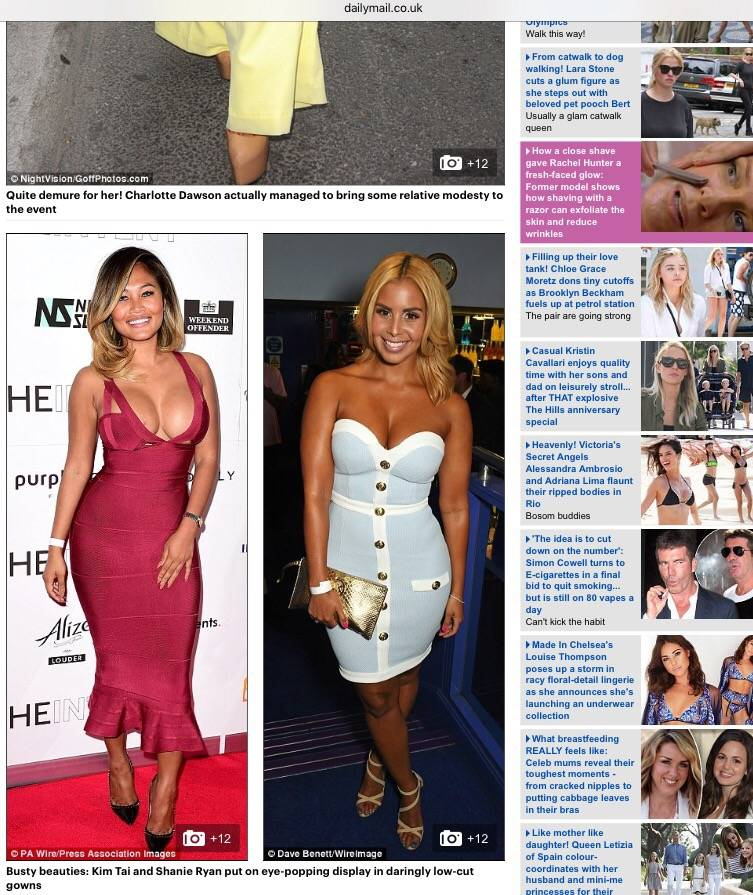 Shanie features in the Daily Mail…