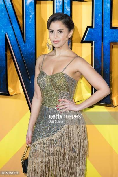 Shanie attends the European Premiere of Black Panther…