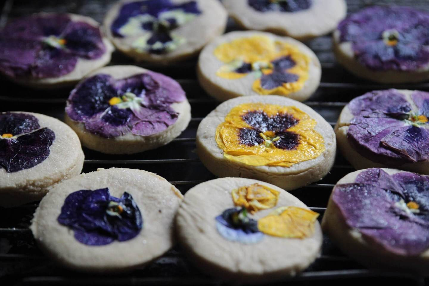 Sugar Cookies With Edible Flowers (And Why Baking Can Be Therapeutic)