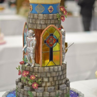castle wedding cake- by Shani's Sweet Art