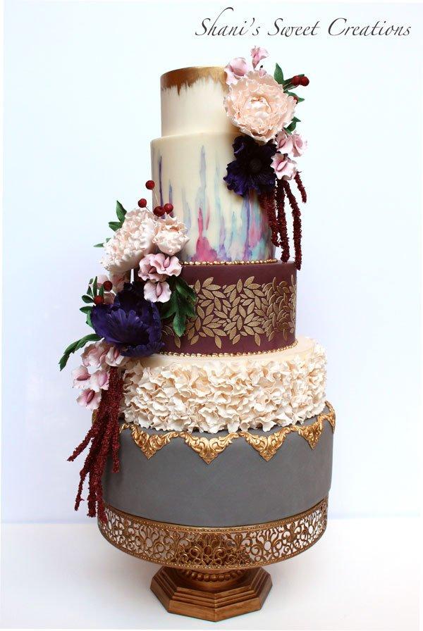 Fall Flowers Wedding cake - awards