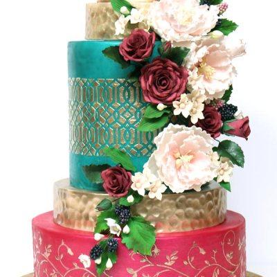 jewel tone wedding cake