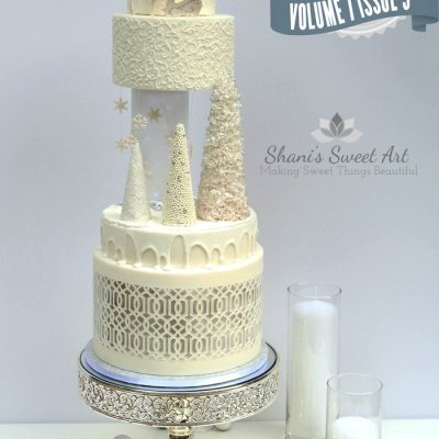 White wedding cake by Shani's Sweet Art