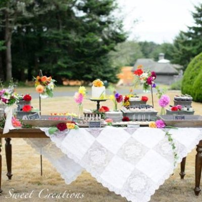Spring Flowers Wedding Dessert Table