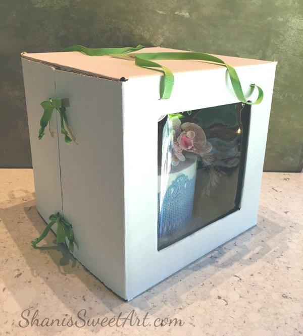 Custom cake box tutorial