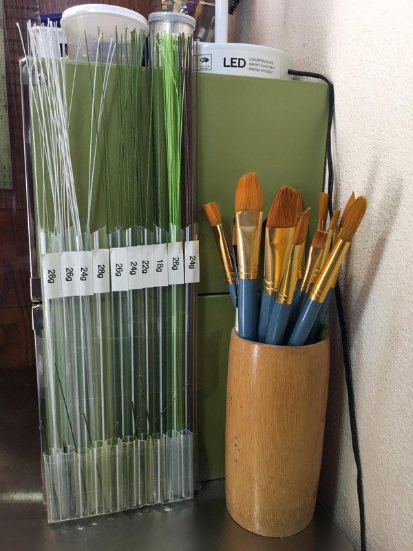 Floral wire organizer