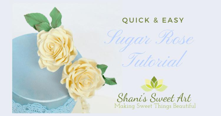 Easy sugar rose tutorial