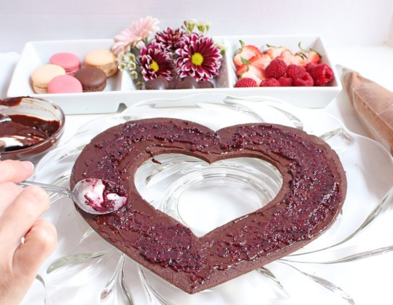 chocolate raspberry cream tart