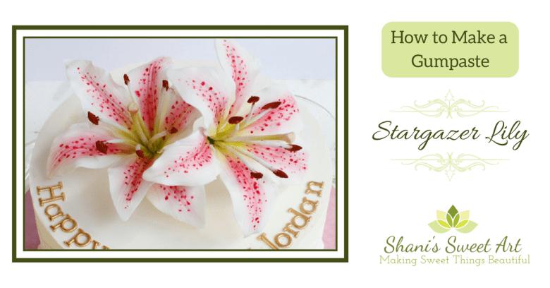 stargazer lily sugar flower tutorial