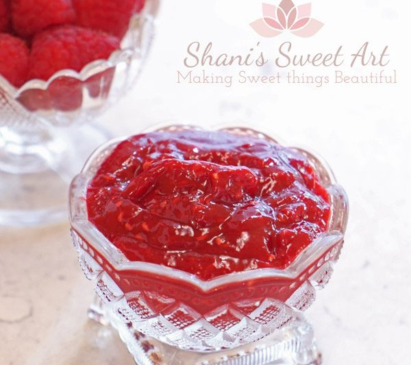 raspberry compote fresh fruit cake filling recipe