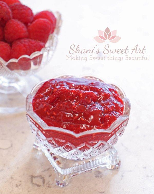 raspberry compote fresh fruit cake filling recipe