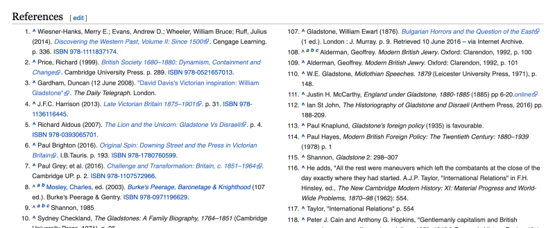 Wikipedia Reference Page