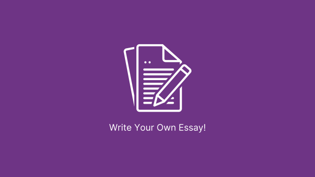 Write Your Own Essay - Writing Services Purple Banner