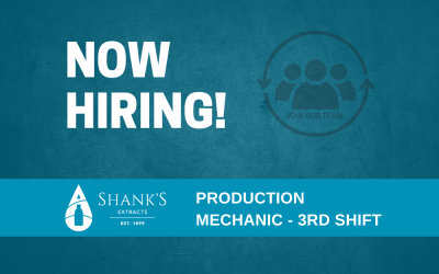 Now Hiring – Production Mechanic – 3rd Shift