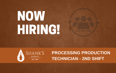 Now Hiring – Processing Production Technician – 2nd Shift