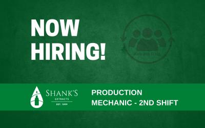 Now Hiring – Production Mechanic – 2nd Shift