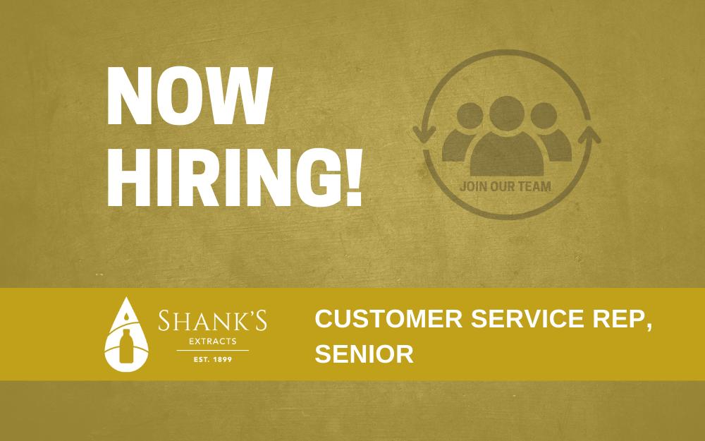 Now Hiring – Customer Service Rep, Senior