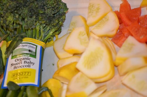 Broccolini and Patty Pan Squash