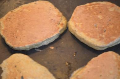 Flip to expose the golden brown crust.
