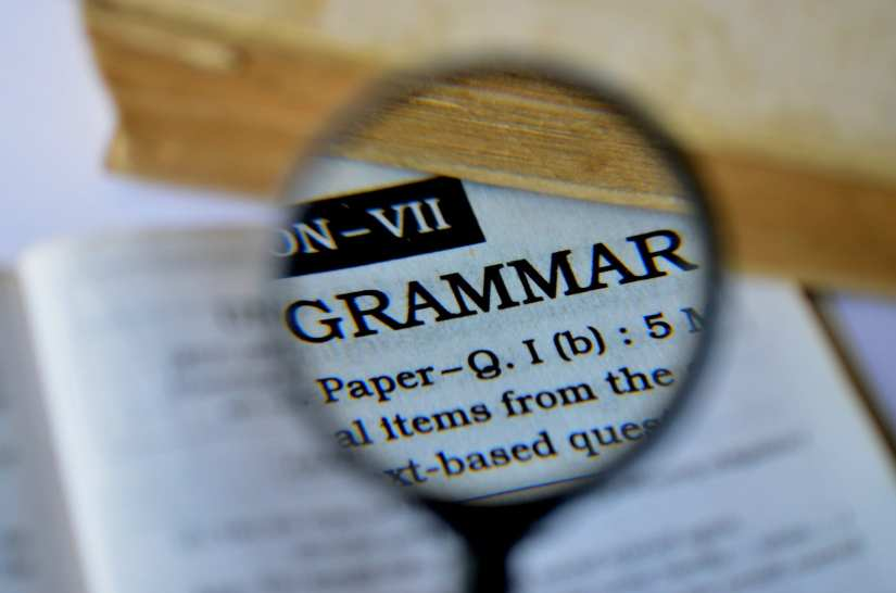 "Dictionary search for the word ""grammar""."