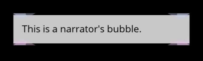 The Plain Narrator's Bubble
