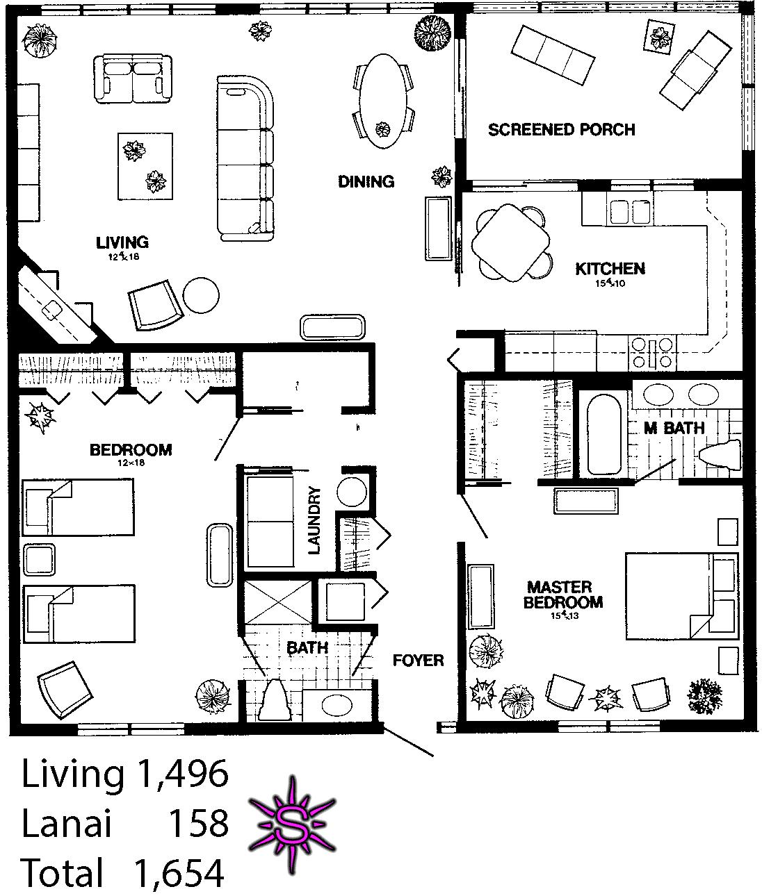 Interlachen Villas Floor Plans