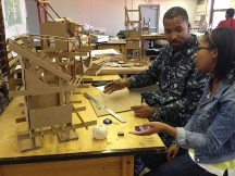 """Cedric and Sheldyn are working on a cluster of cabins for """"Camp Nebula."""""""