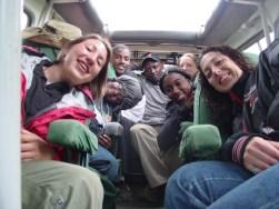 On safari in the Ngorongoro Crater, near Arusha.