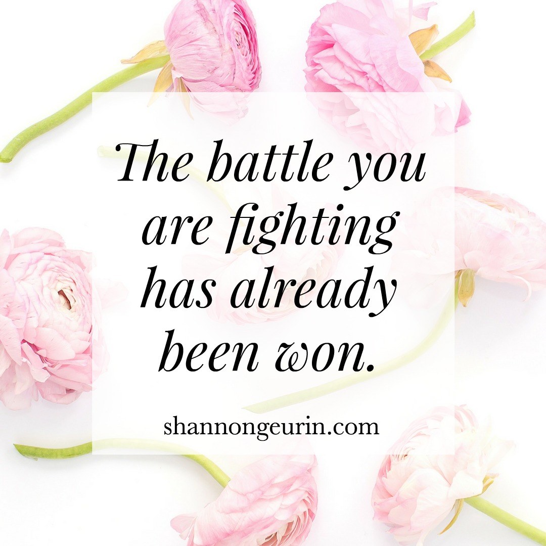 Choosing to Fight | Fierce Friday- the battle you are fighting has already been won!