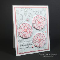 Falling Flowers in Flirty Flamingo – Pals Paper Arts 306