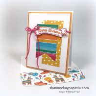 Stampin Up Birthday Banners Card Ideas - Shannon Jaramillo Stampinup