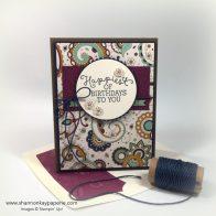 Petals & Paisleys Birthday Blooms Birthday Cards Idea - Shannon Jaramillo Stampinup