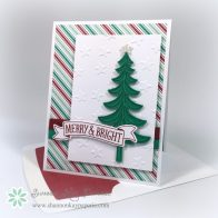 Stampin Up Merry & Bright Wishes Card Idea - Shannon Jaramillo Stampinup