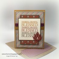 Stampin Up Paisleys & Posies Thank You Card Ideas - Shannon Jaramillo Stampinup