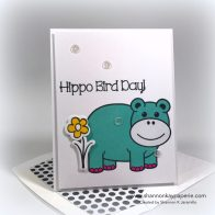 Hippo Bird Day Birthday Card Ideas - Shannon Jaramillo shannonkaypaperie