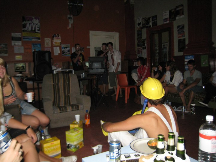 Karaoke at the Coffee Palace Backpackers