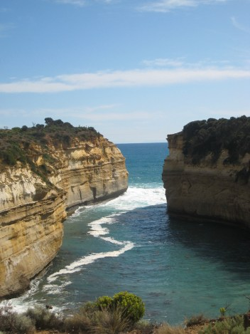 The gorgeous Loch Ard Gorge from above