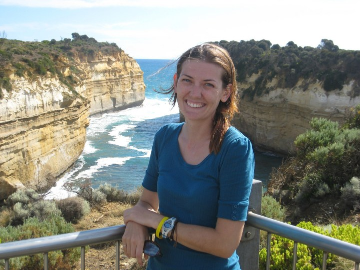 Taking in the view of Loch Ard Gorge