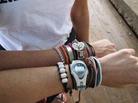 backpacker bracelets in southeast asia