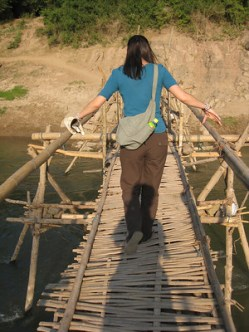 Rickety Bridge in Laos
