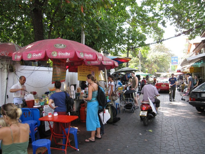 Vegetarian Street Vendor in Bangkok