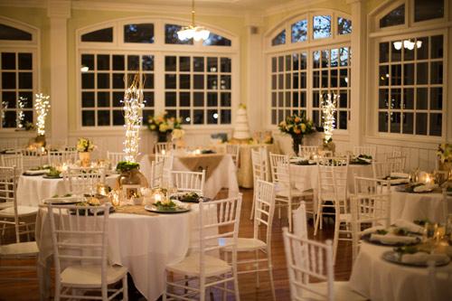 Diamond Room Before Up Lighting Wedding
