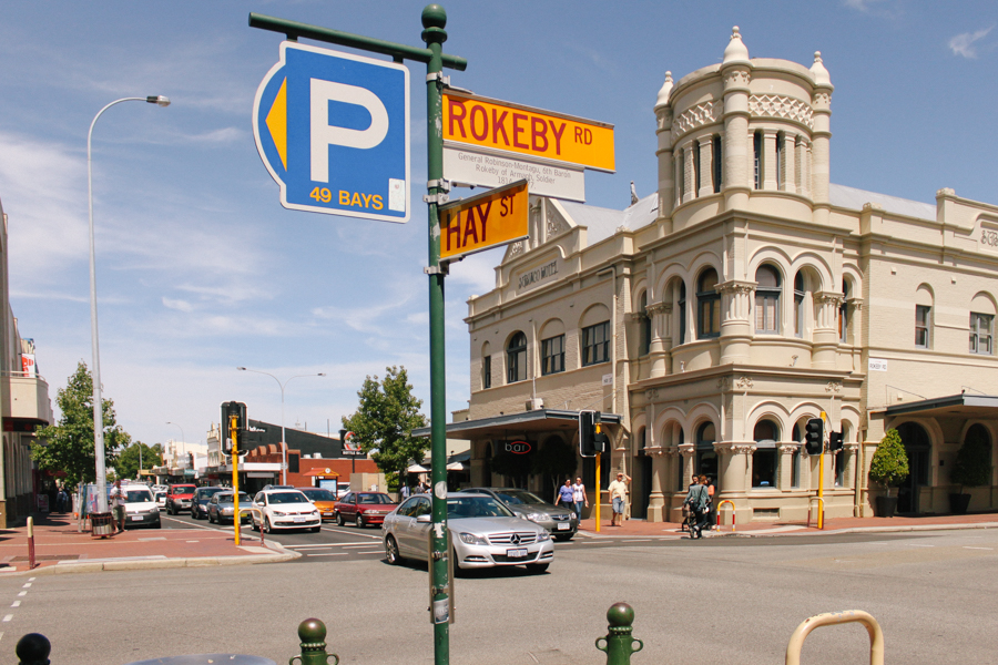 Rokeby Road in Subiaco, Perth.
