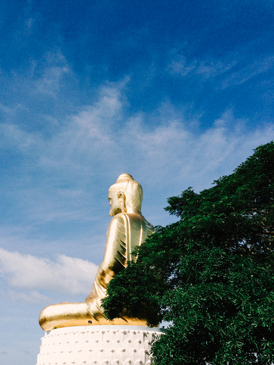 Giant golden Buddha statue in Thailand.