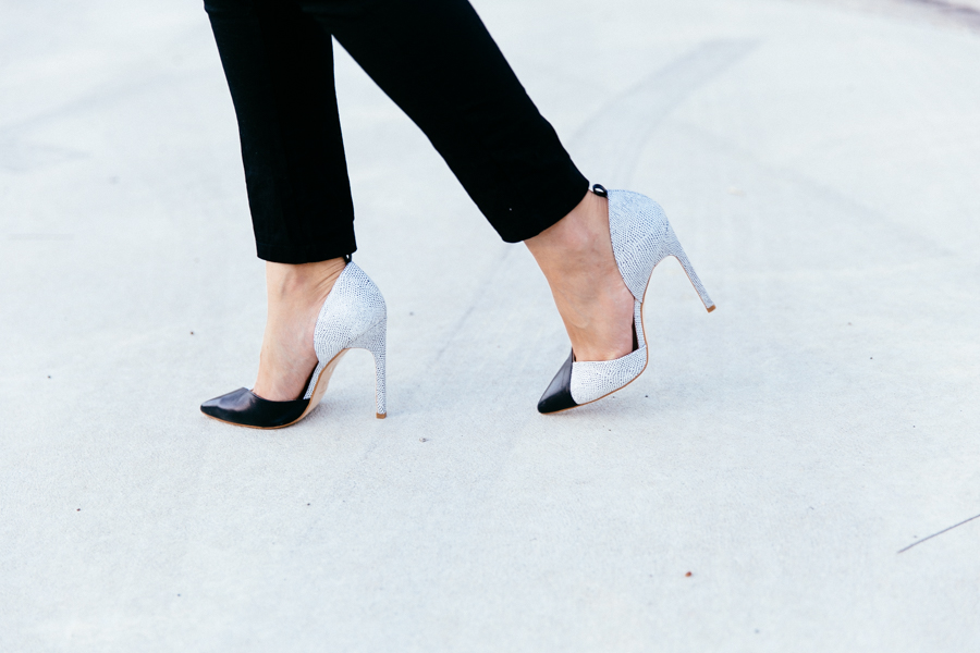 The Mode Collective ankle strap point heels.